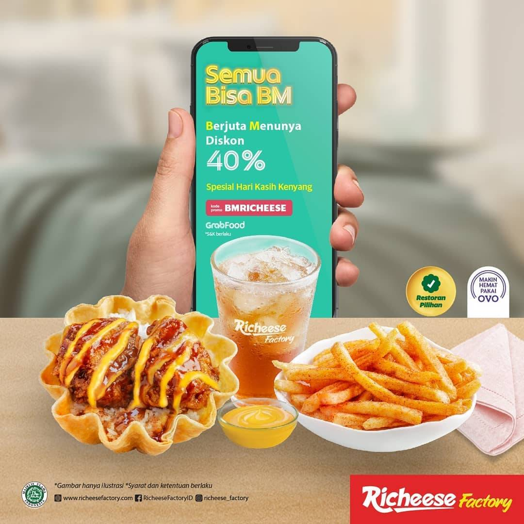 Diskon Richeese Factory Promo Diskon 40% Pembelian Via Grabfood