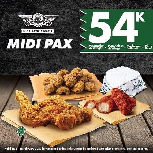 Diskon Wingstop Promo Harga Spesial Menu Midi Pax Cuma Rp. 54.000