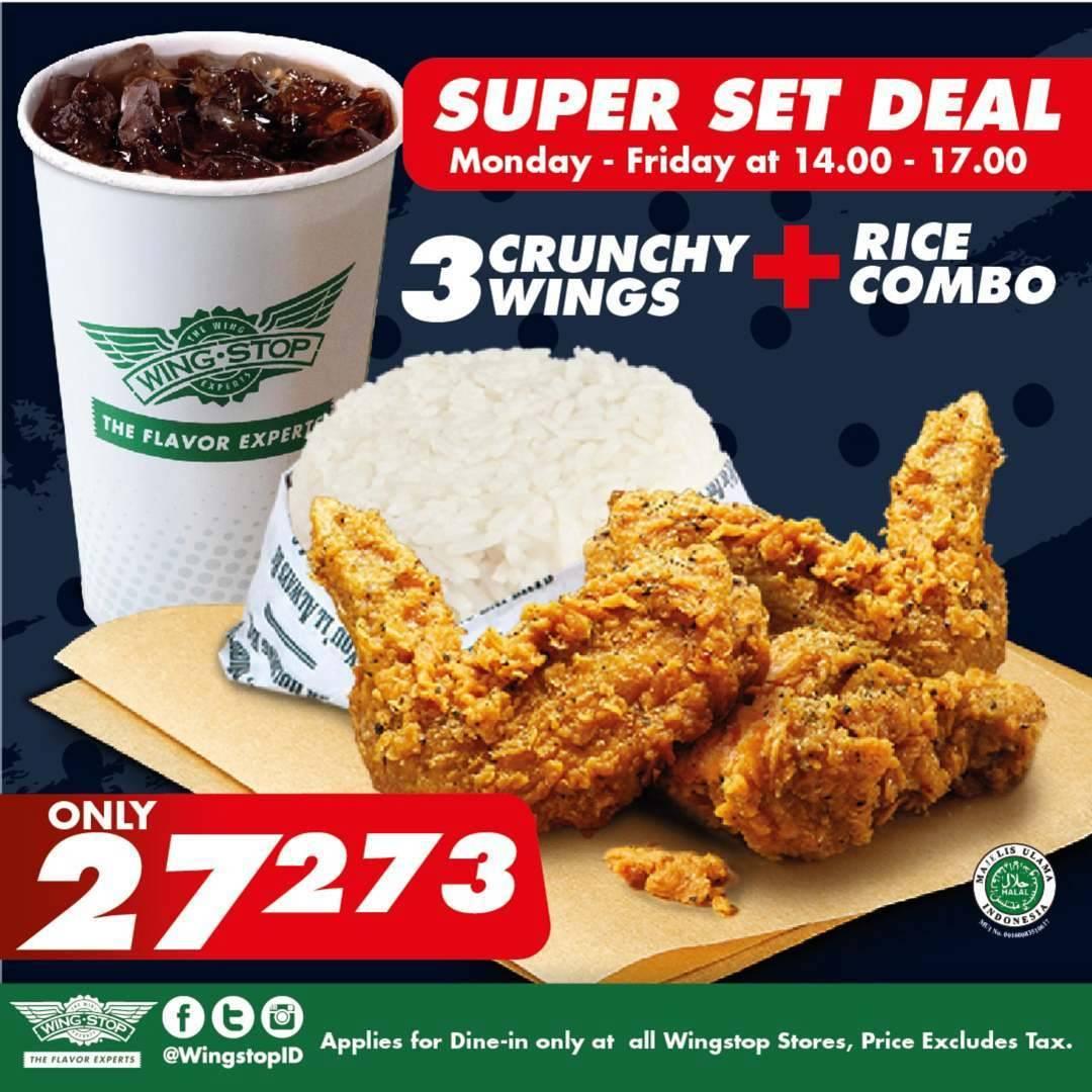 Wingstop Promo Harga Spesial Super Set Deal Cuma Rp. 27.273