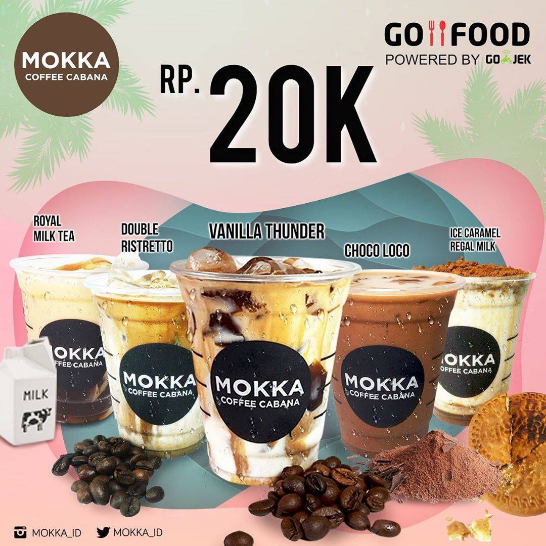 Mokka Coffee Cabana Promo Harga Spesial Minuman Cuma Rp. 20.000 Pakai Gofood
