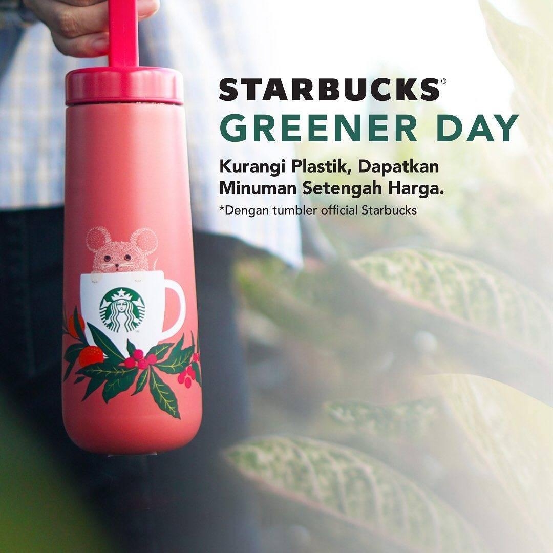 Diskon Starbucks Promo Greener Day, Dapatkan Diskon 50% Dengan Membawa Tumblr Starbucks