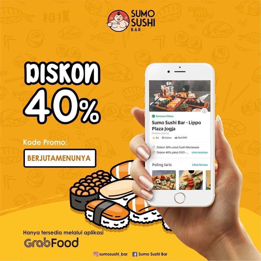 Sumo Sushi Promo Diskon 40% Pembelian Melalui Grabfood