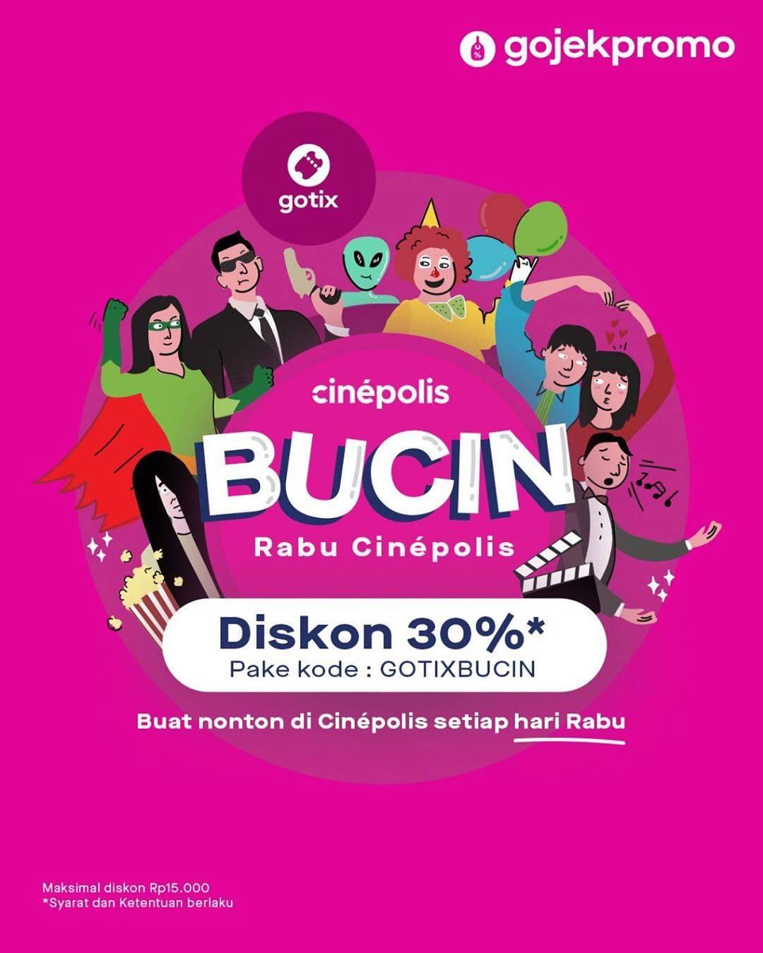 Gotix Diskon 30% Buat Nonton Di Cinepolis