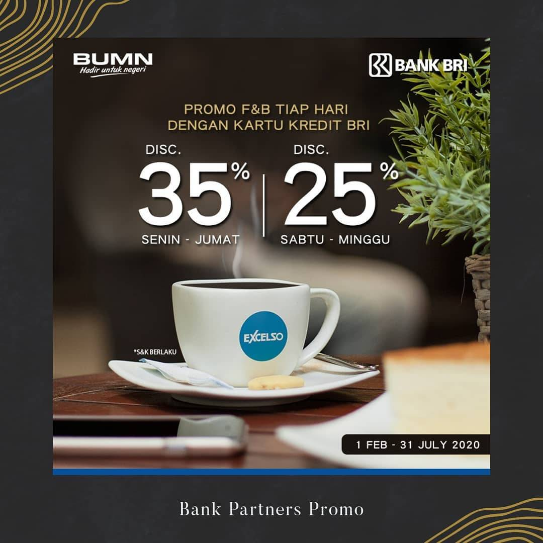 Excelso Promo Diskon Hingga 35% Pembayaran Dengan Kartu Kredit BRI