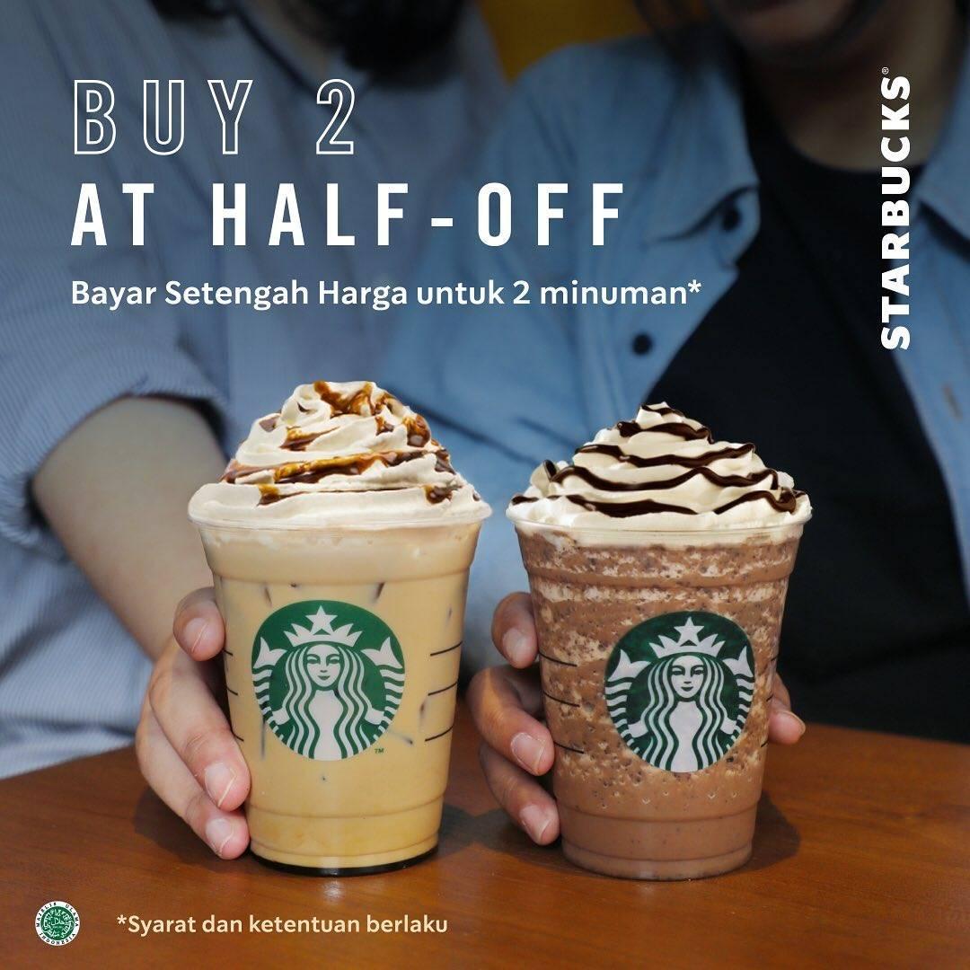 Diskon Starbucks Promo Bayar Setengah Harga Untuk Dua Minuman Menggunakan Kupon Line