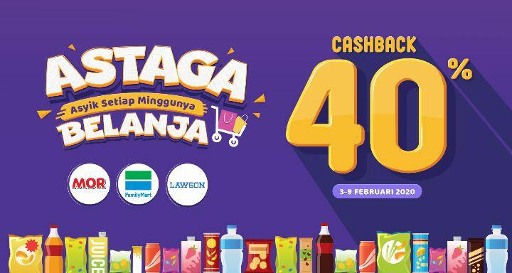 Diskon OVO Promo Cashback Hingga 40% Dengan Belanja Di Minimarket Pilihan