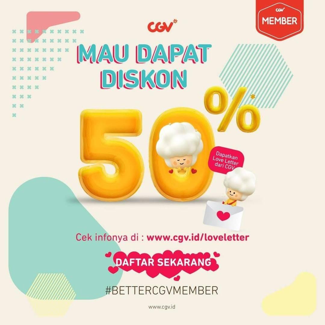 CGV Promo Diskon 50% Untuk Pembelian Tiket Nonton