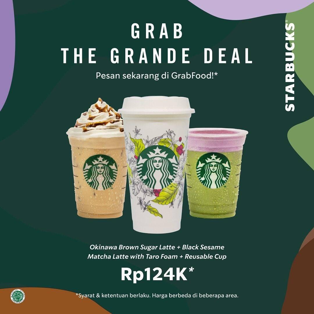Diskon Starbucks Promo Grab The Grande Deals, Harga Spesial Minuman Pilihan Cuma Rp. 124.000