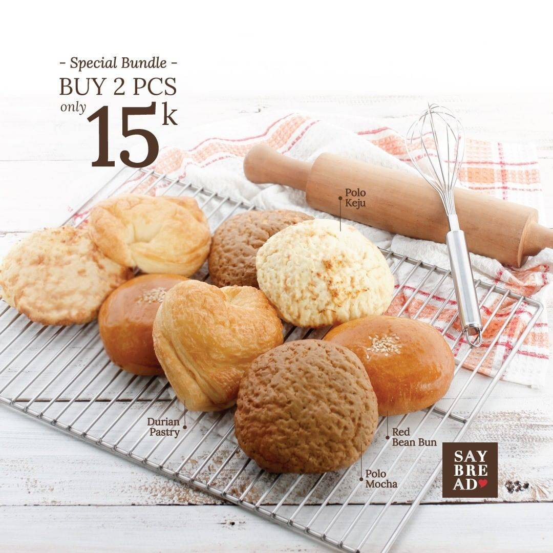 Indomaret Promo Buy 2 Pcs Only IDR. 15.000 Roti Say Bread