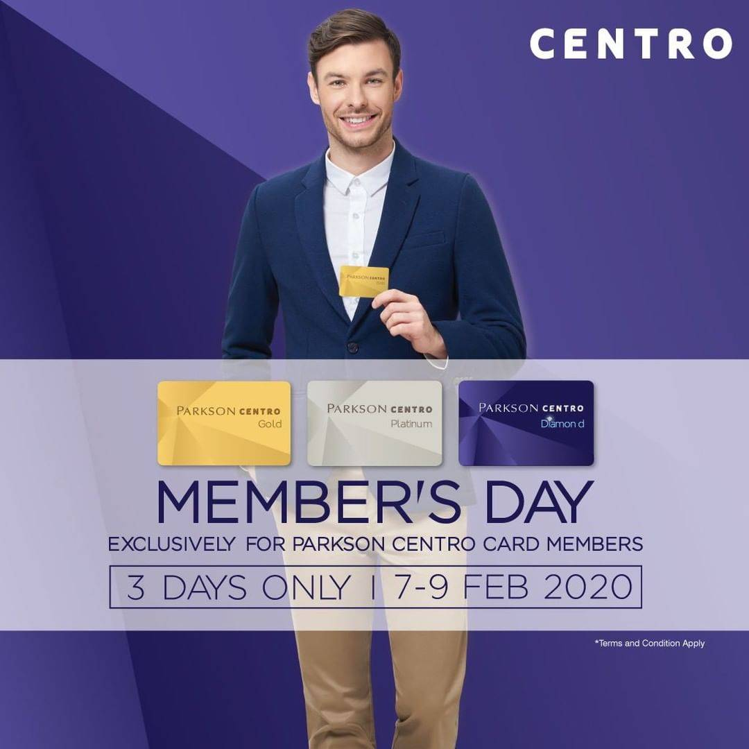 Centro Promo Members Day, Get Free Voucher Rp 50.000 With Minimum Purchase Of Rp 500.000.