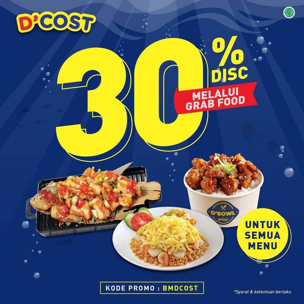 D'Cost Promo Diskon 30% Pembelian Melalui Grabfood App