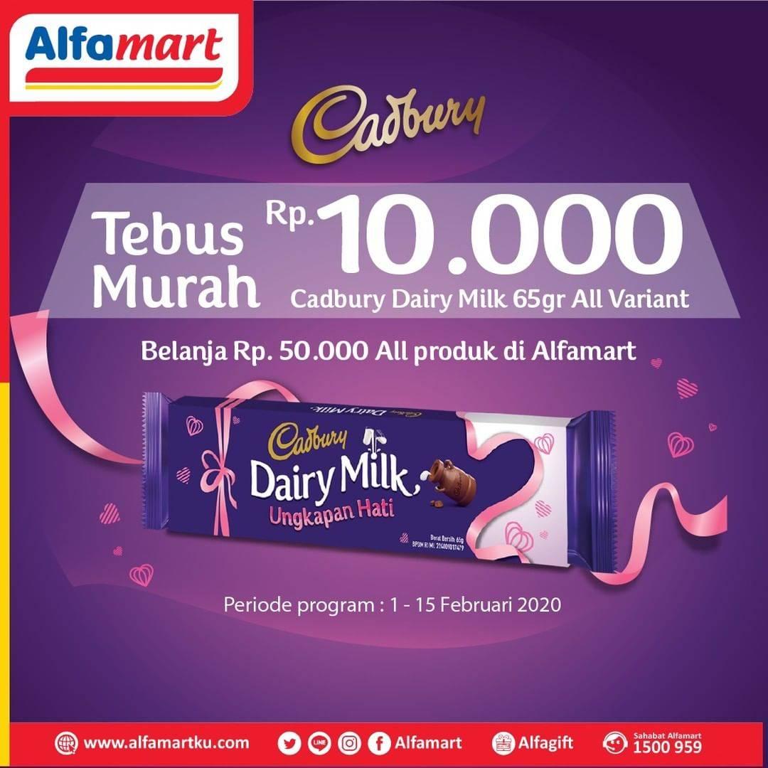Alfamart Promo Belanja Minimal Rp. 50.000 Dapatkan Diary Milk 65gr All Variant Rp 10.000 aja