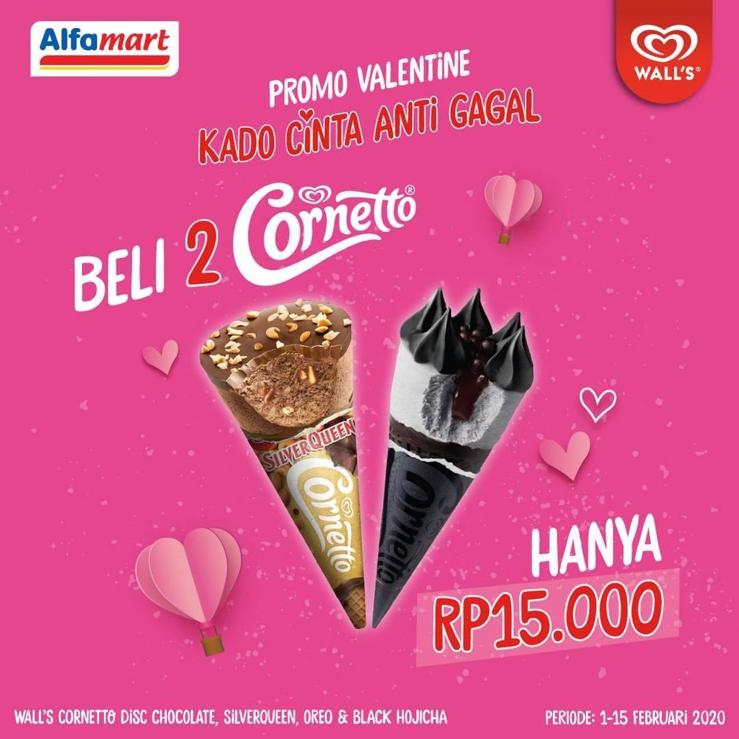 Alfamart Promo Beli 2 Cornetto Cuma Rp. 15.000