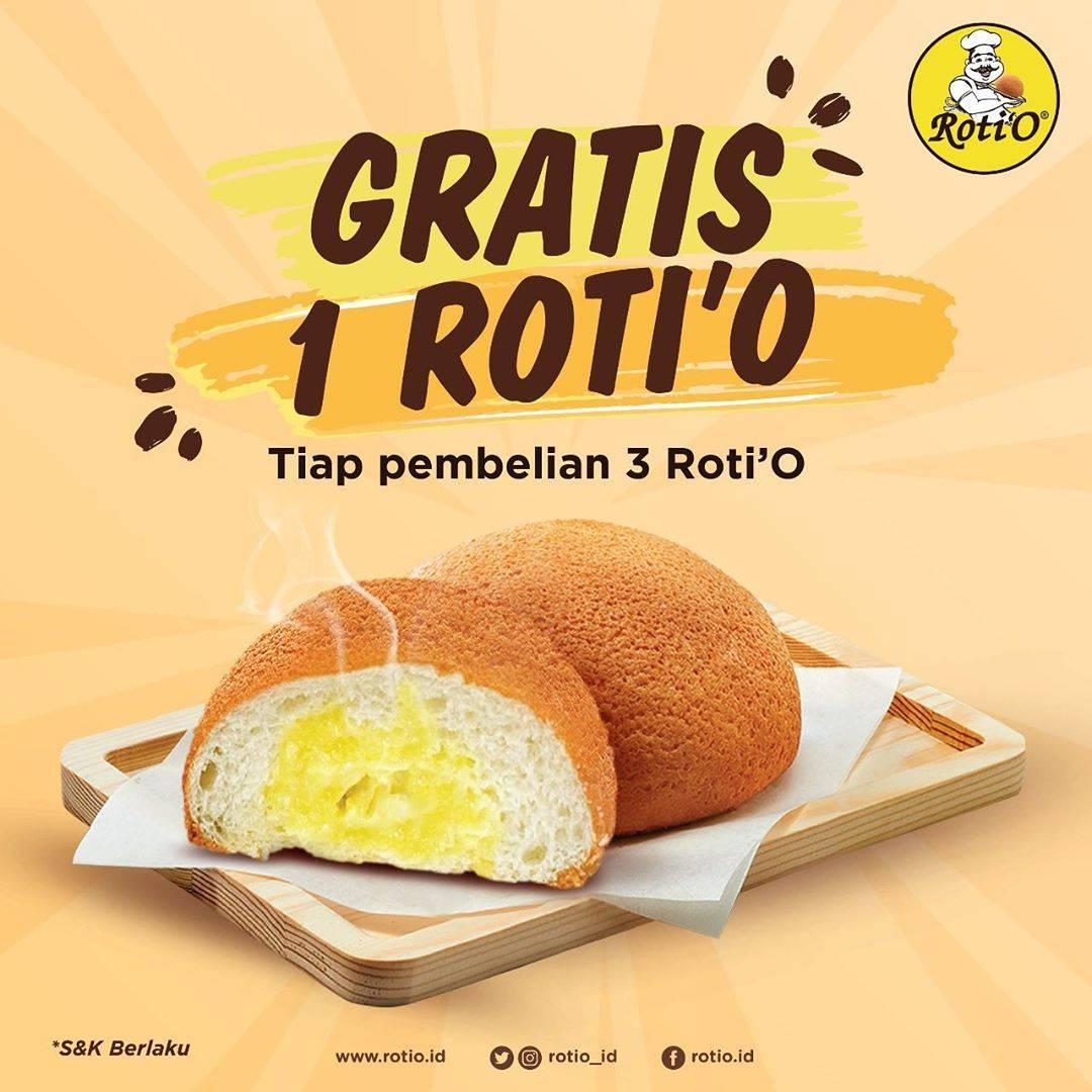 Roti'O Promo Buy 3 Get 1 Free
