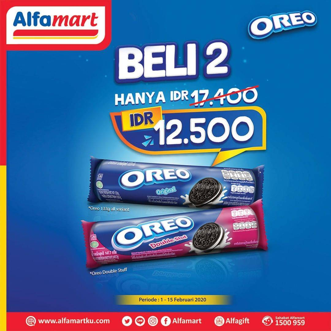 Diskon Alfamart Promo Beli 2 Oreo Dapatkan Harga Spesial Hanya Rp. 12.500