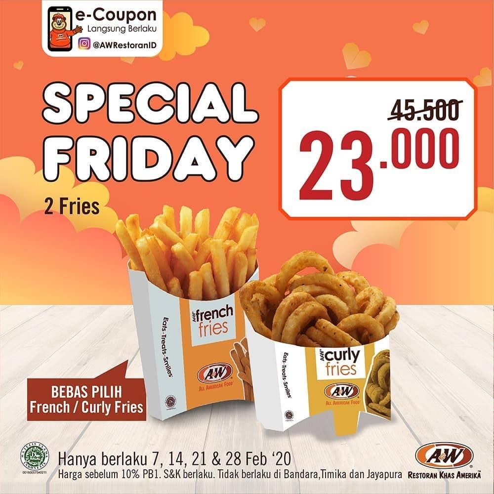 A&W Promo Special Friday Harga Spesial Untuk Menu Pilihan Mulai Dari Rp. 19.000