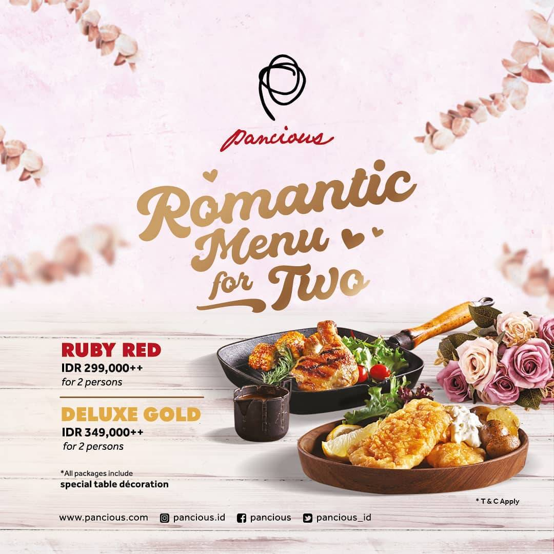 Diskon Pancious Promo Valentine's Day, Selected Menu Special Price Start From IDR 299.000++