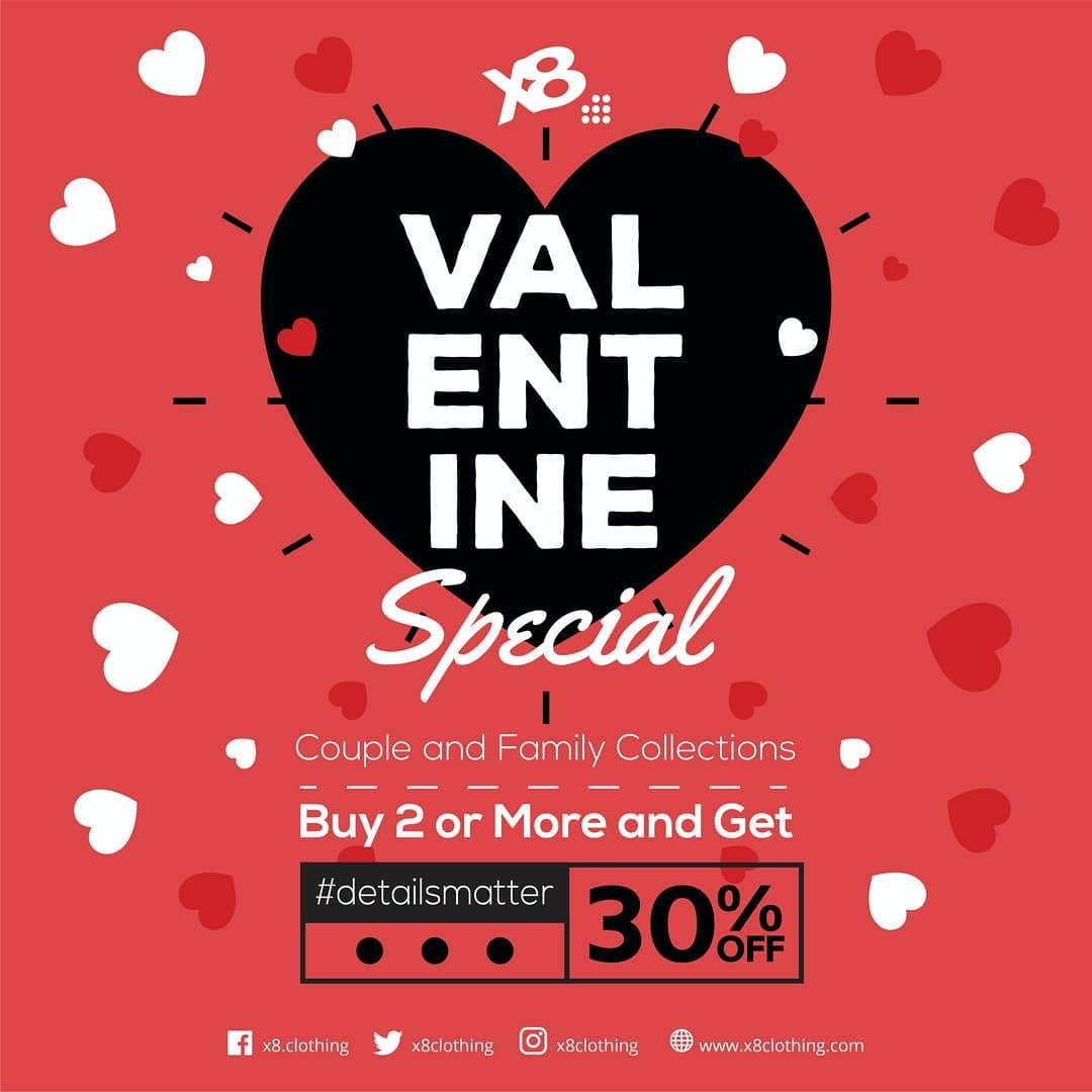 Diskon X8 Valentine Special Promo Buy 2 Or More And Get Discount 30% Off