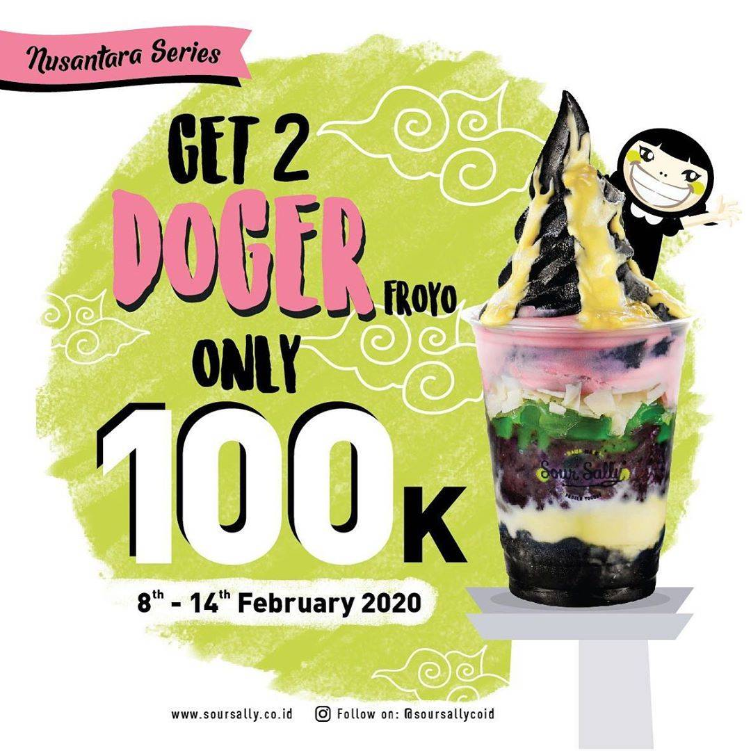Diskon Sour Sally Promo Get 2 Doger Froyo Only IDR 100.000