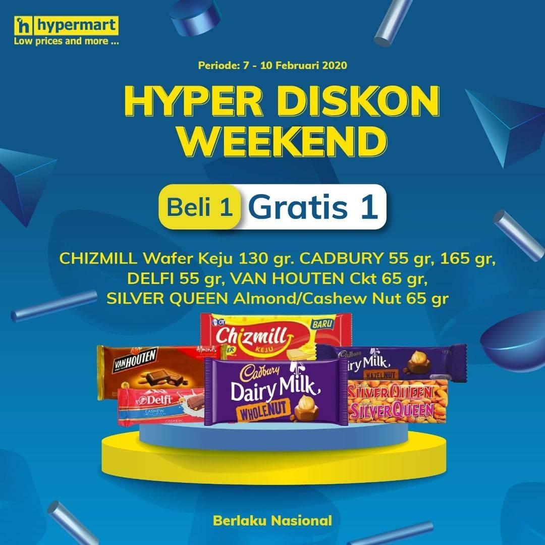 Diskon Hypermart Promo Beli 1 Gratis 1 Setiap Produk Cokelat Pilihan