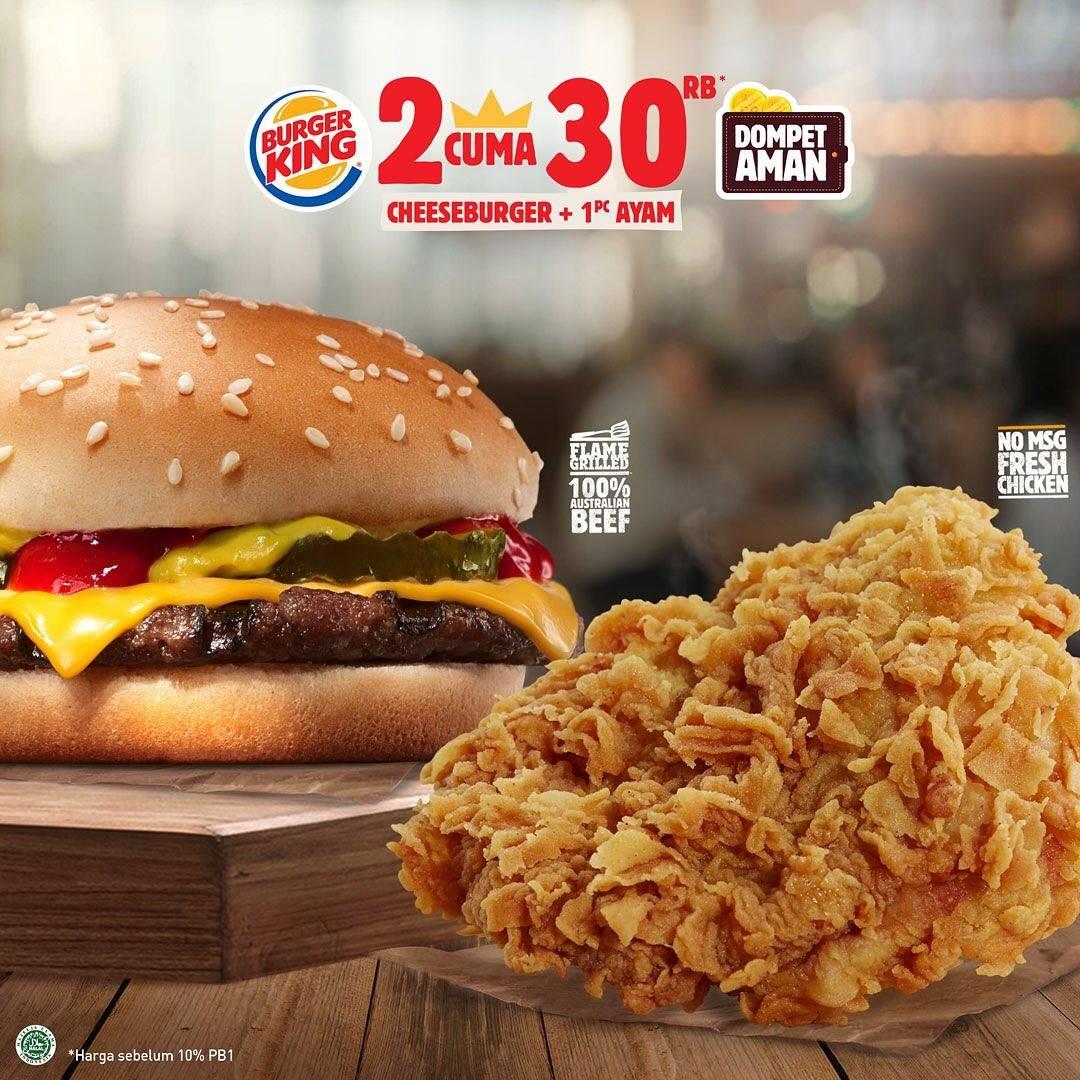 Diskon Burger King Promo Harga Spesial Menu Pilihan Cuma Rp. 30.000