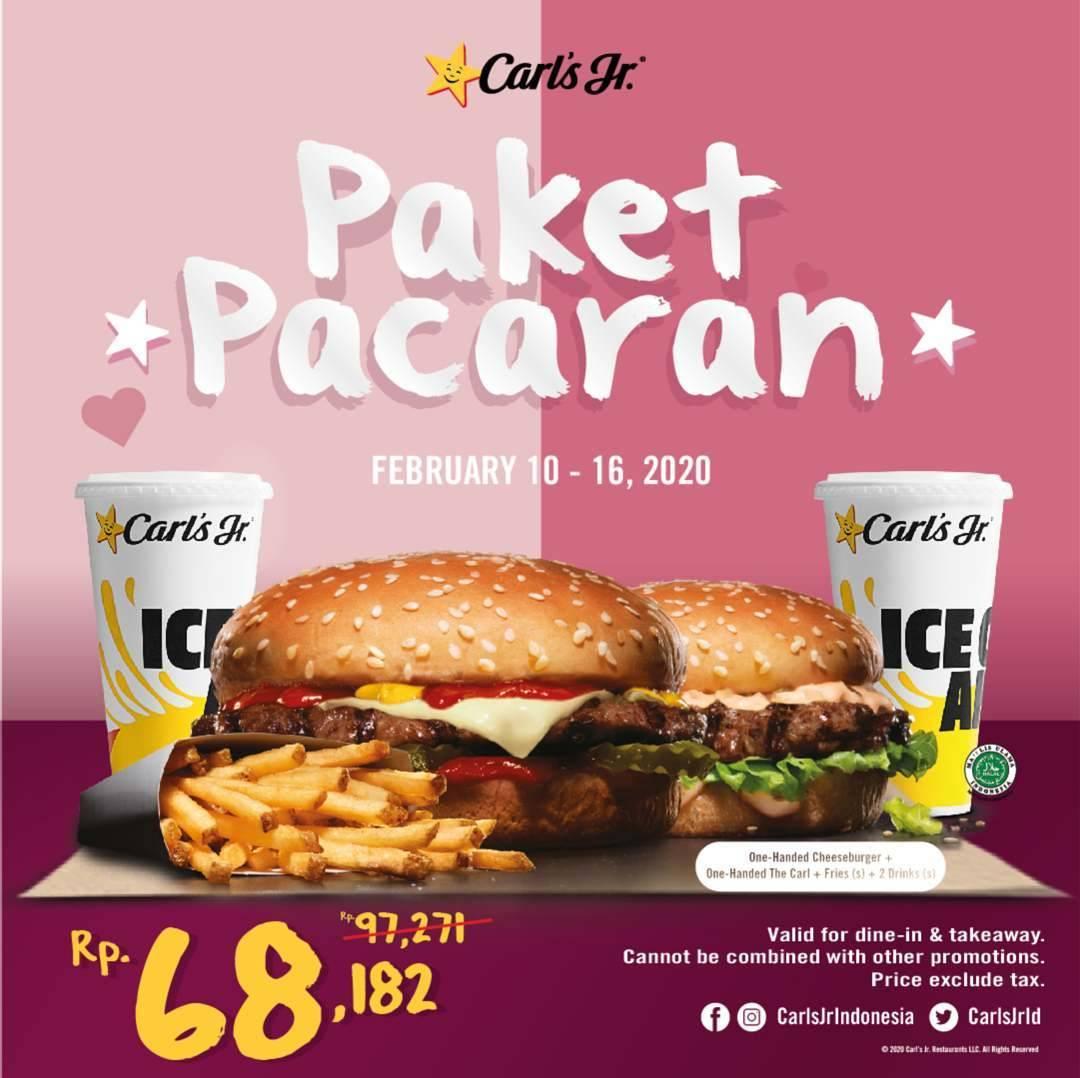 Carls Jr Promo Paket Pacaran, Dapatkan Menu Pilihan Dengan Harga Spesial Hanya Rp. 68.182