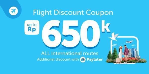 Traveloka Promo Diskon Hingga Rp. 650.000 Untuk Booking Tiket Pesawat