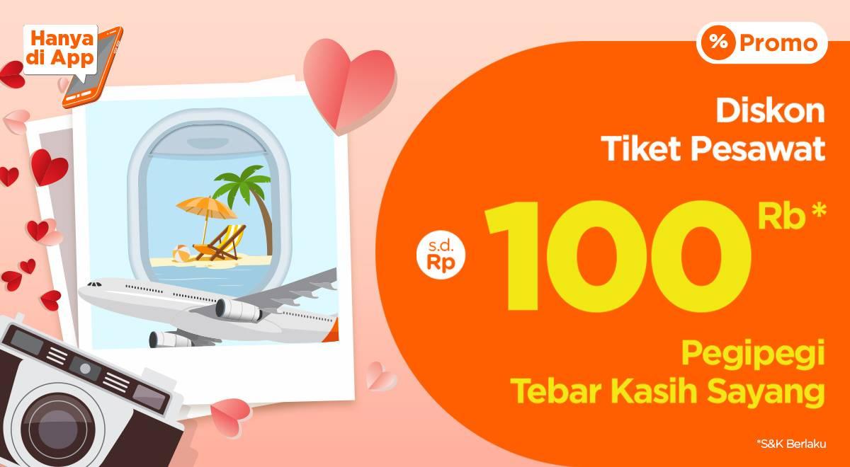 Pegi Pegi Promo Diskon Tiket Pesawat Hingga Rp. 100.000
