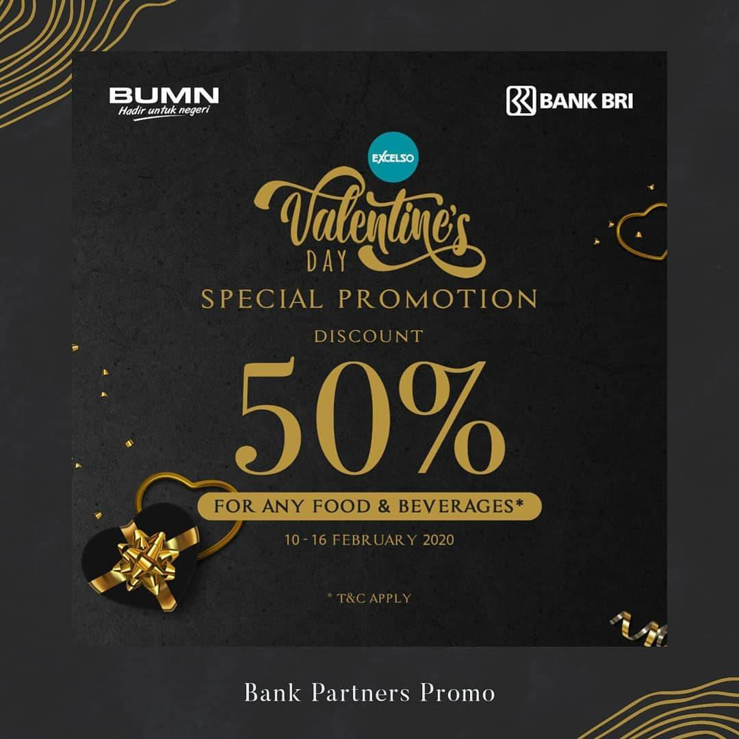 Diskon Excelso Bank Partners Special Promo Discount 50% Off Dengan Bank BRI