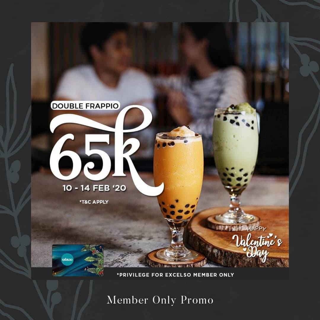 Excelso Coffee Promo Double Frappio Hanya Rp. 65.000 Khusus Member Excelso