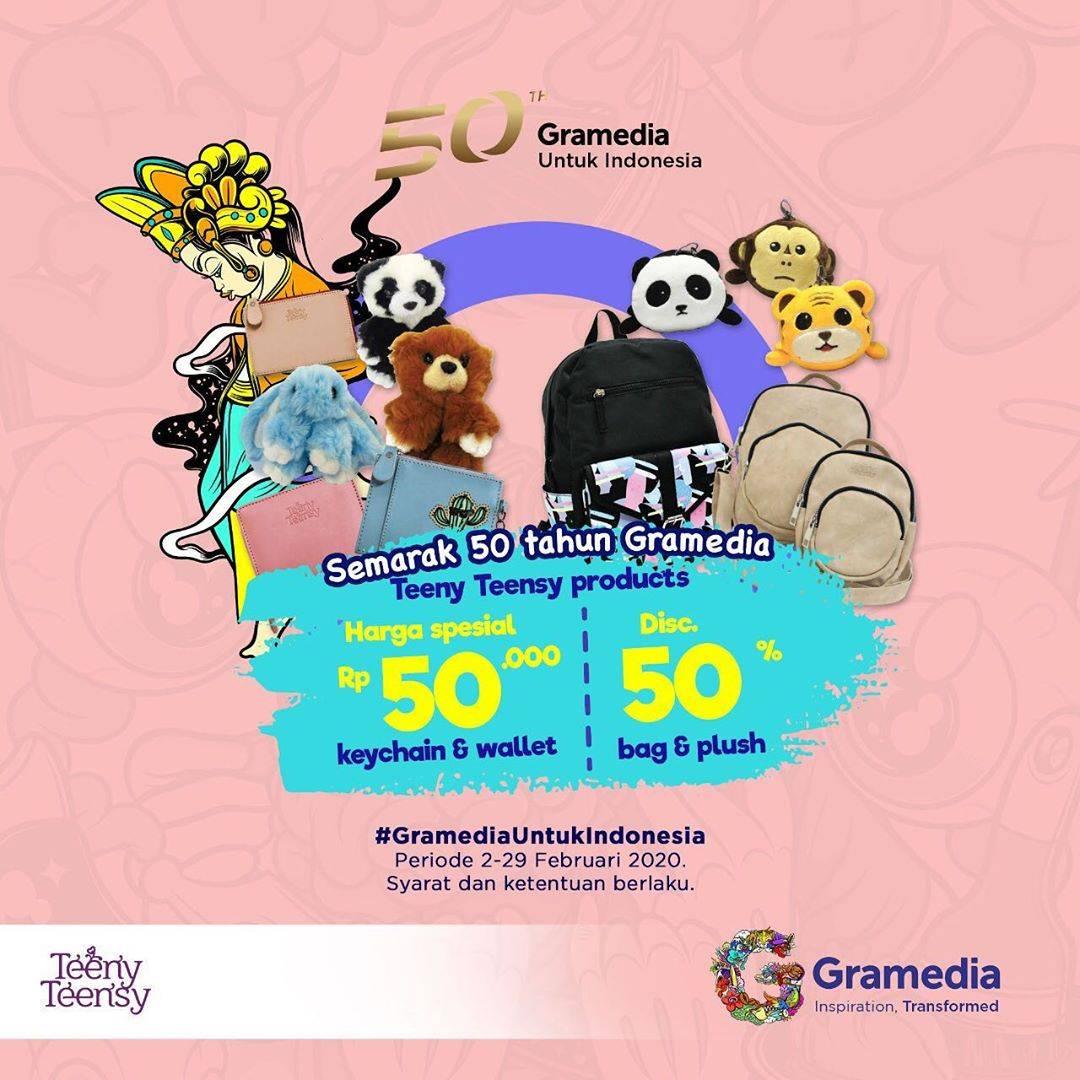 Gramedia Promo Semarak 50th, Harga Spesial Rp.50.000 Dan Diskon 50% Untuk Produk Teeny Teensy