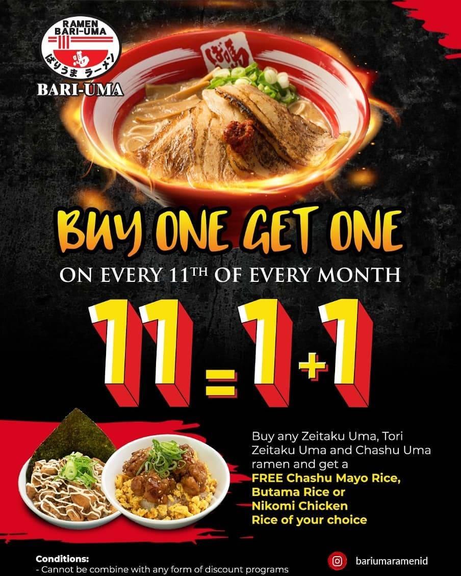 Diskon Bariuma Ramen Promo Buy 1 Get 1 Only On 11th Every Month