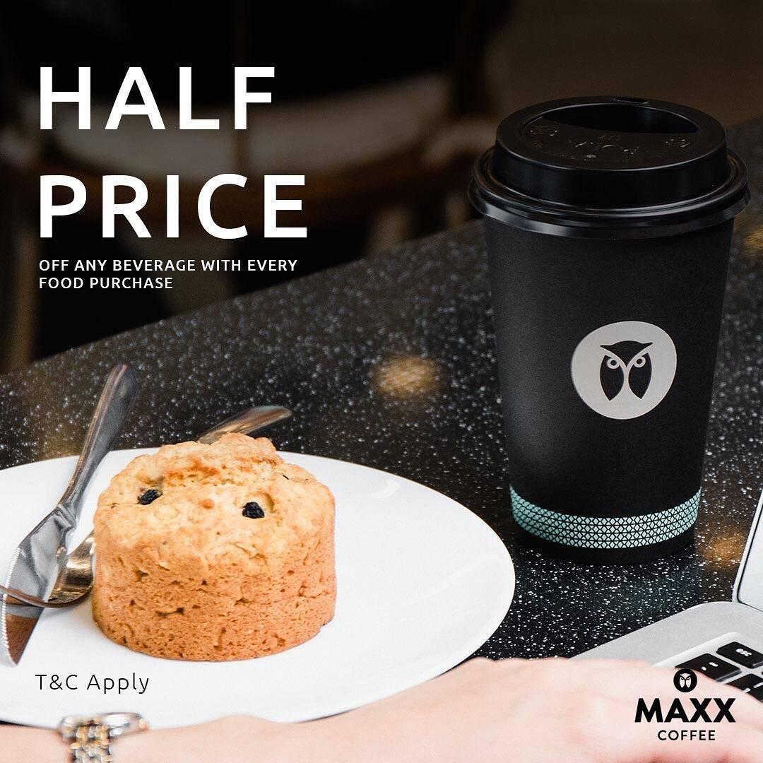 Maxx Coffee Promo Beli Makanan Dapatkan Diskon 50% Untuk Minuman Ukuran Medium