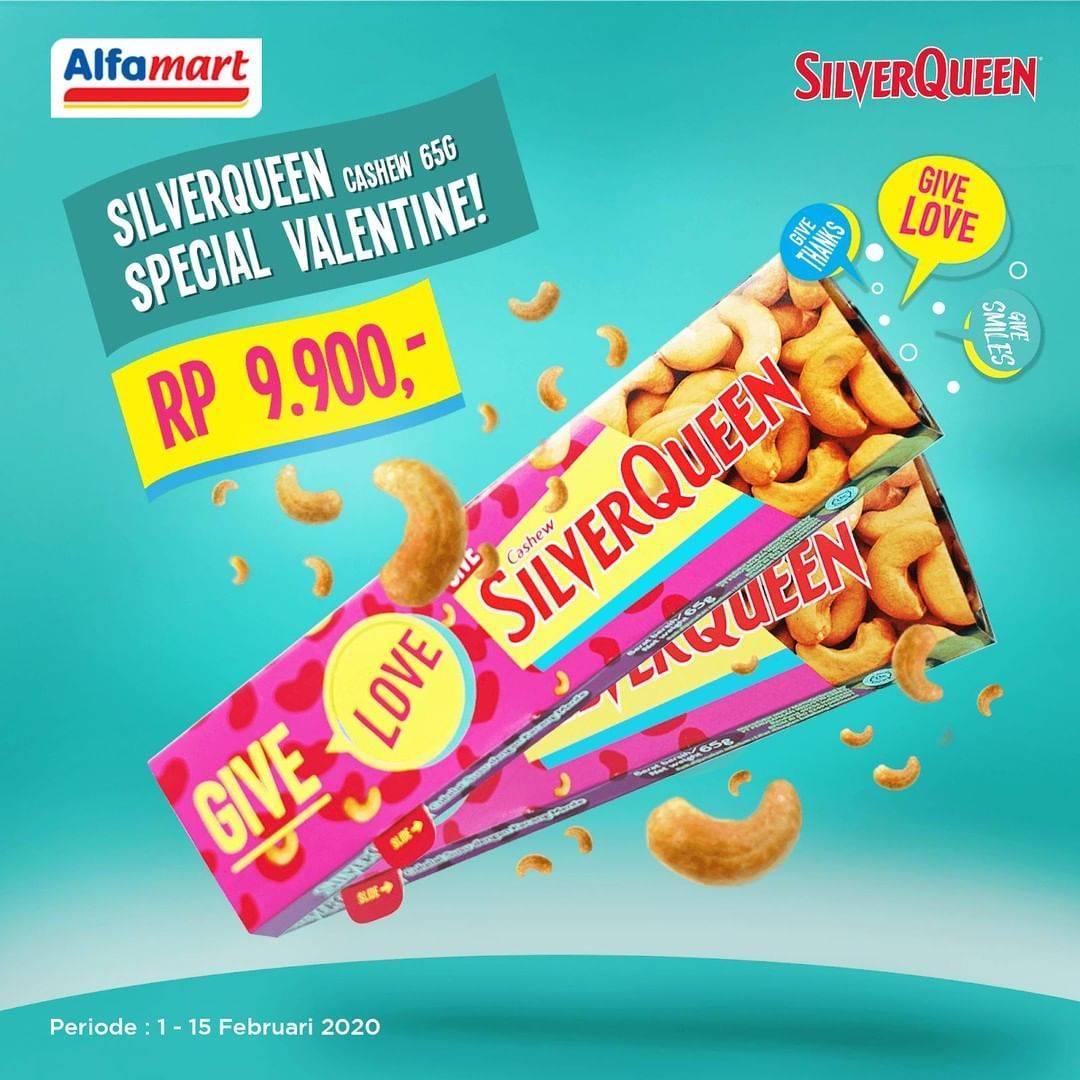 Alfamart Promo Harga Spesial Silverqueen Cashew 65g Hanya Rp. 9.900
