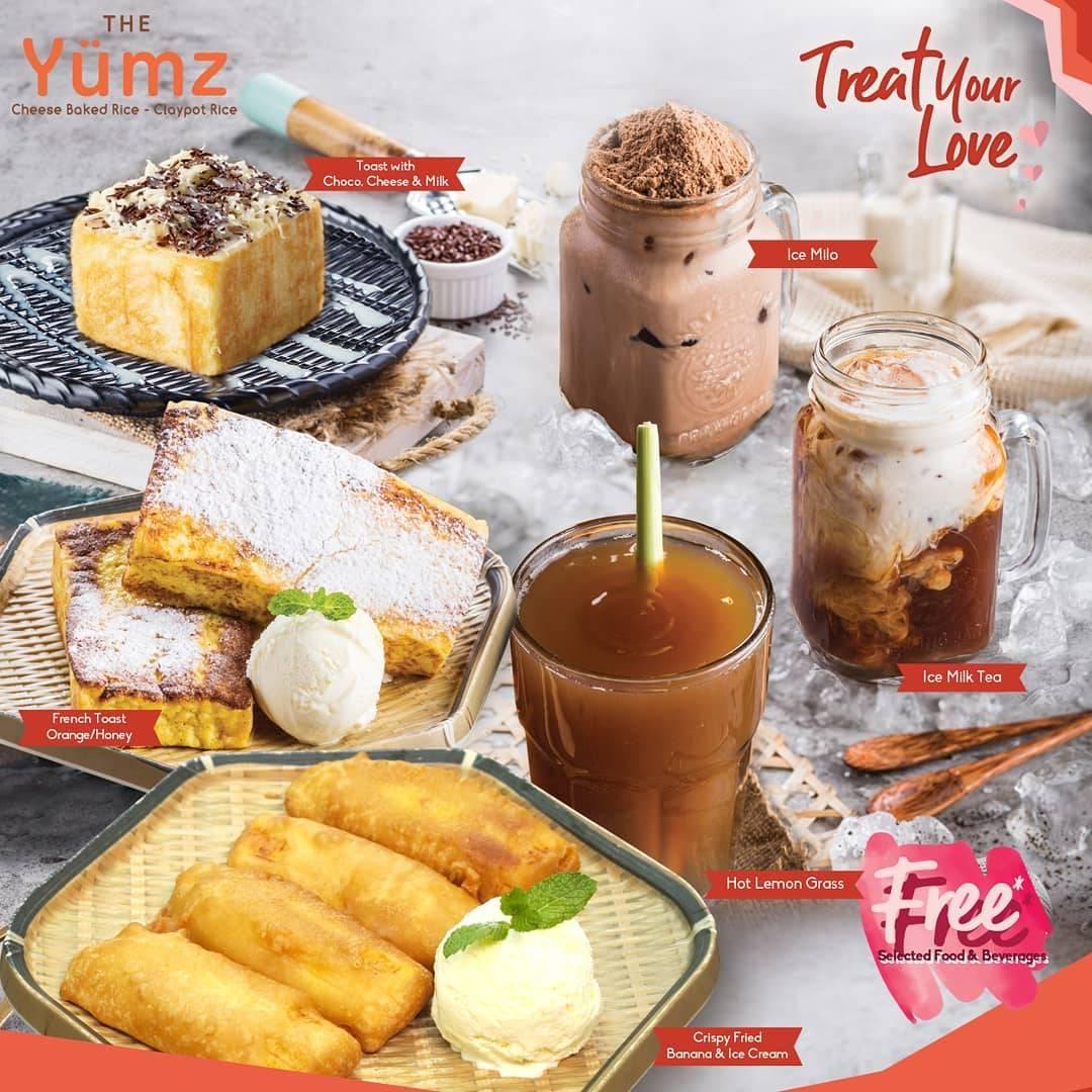 The Yumz Promo Free Dessert & Beverages Dengan Minimal Transaksi Rp. 250.000