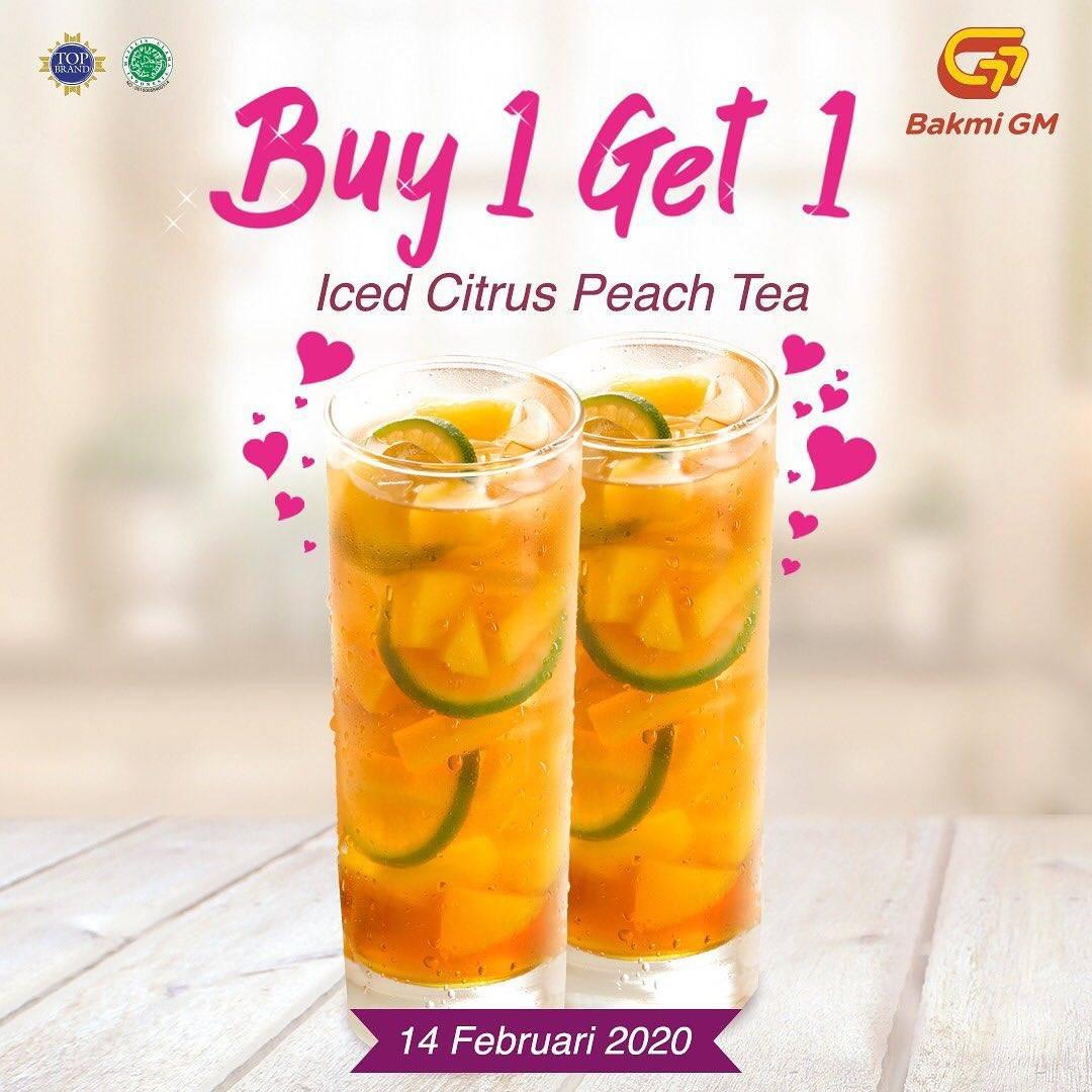 Bakmi GM Beli 1 Gratis 1 Iced Citrus Peach Tea