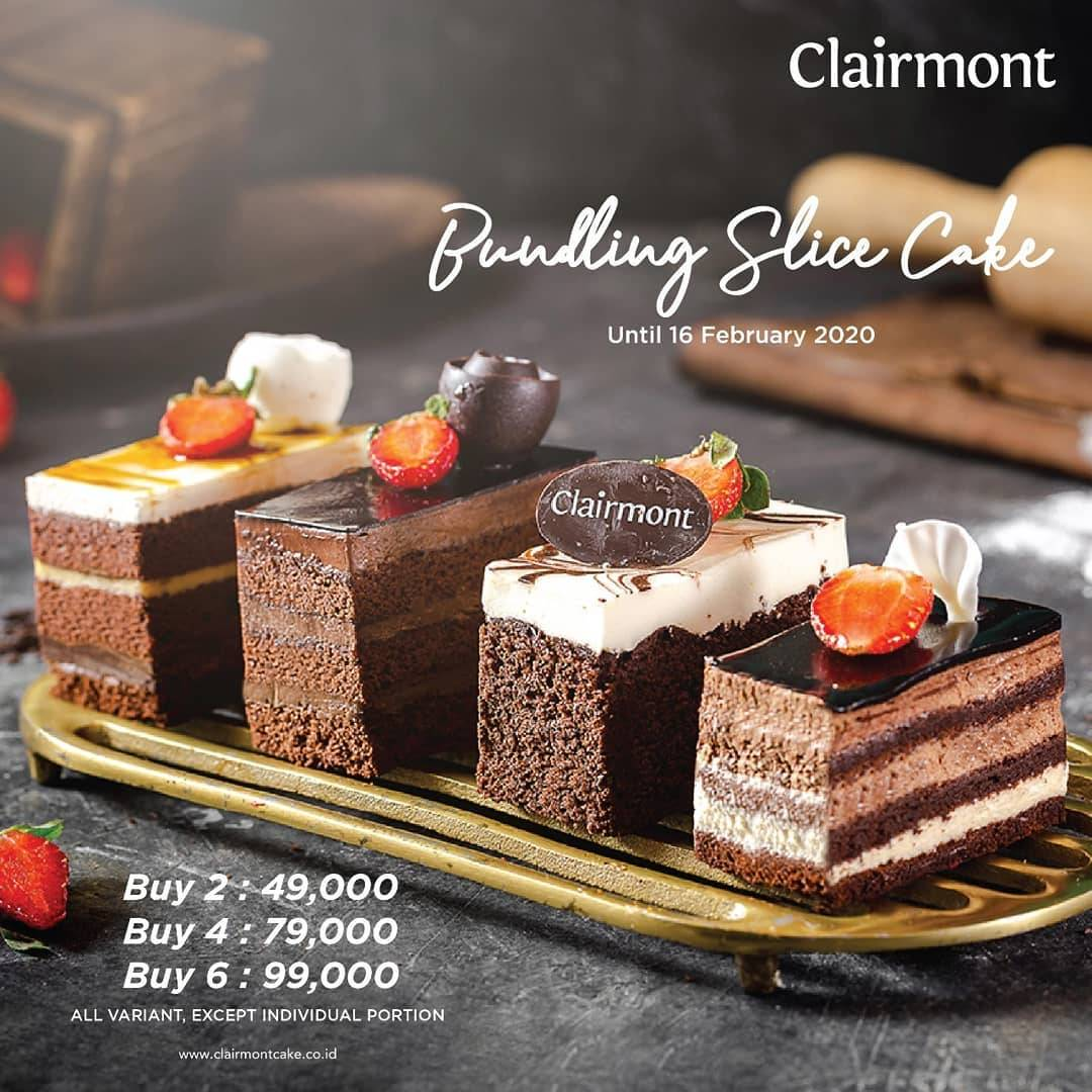 Diskon Clairmont Patisserie Promo Special Price Bundling Slice Cake Start From IDR 49.000