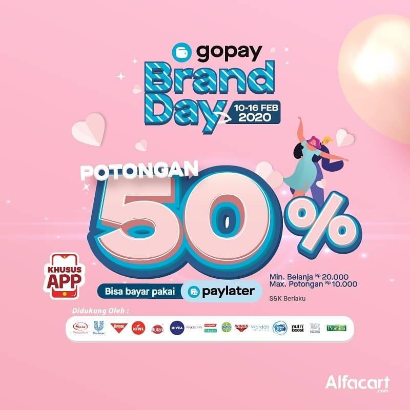 Alfacart Promo I Love You 5000 Diskon 50% Bayar Dengan Gopay Atau Paylater!