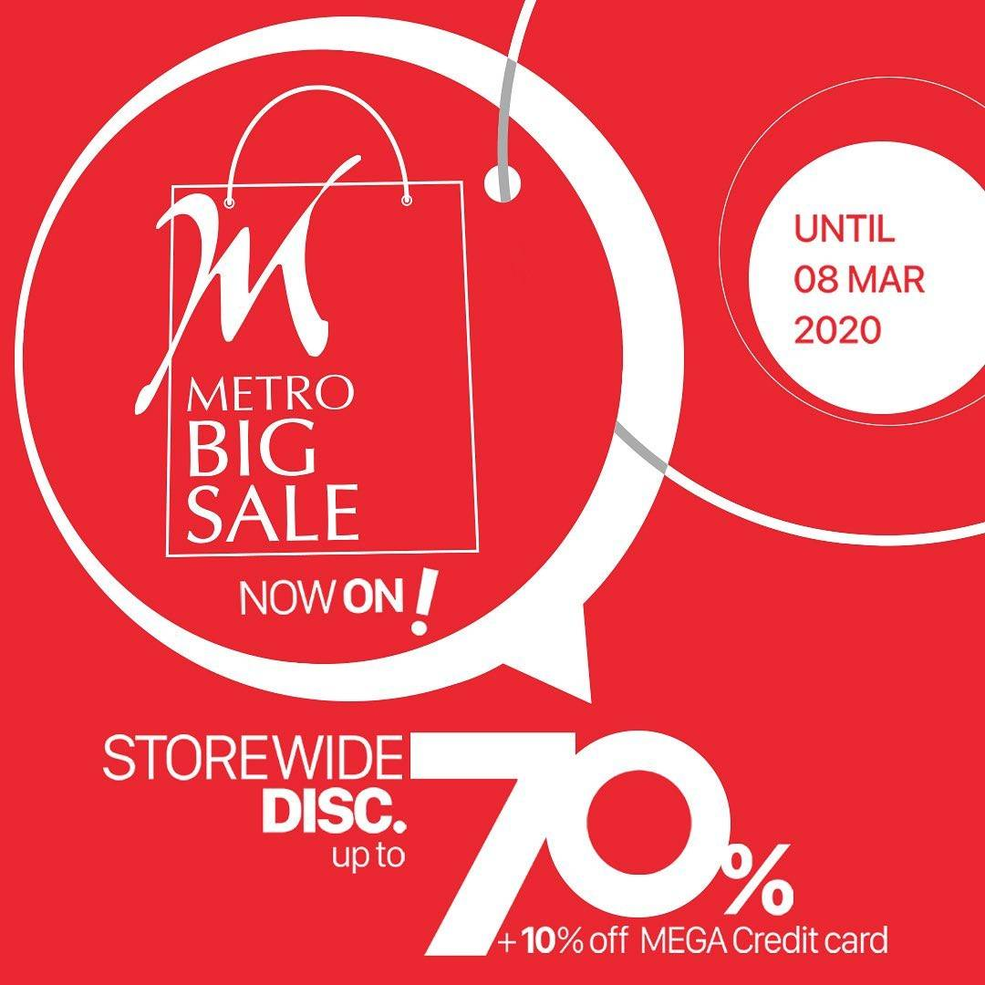 Metro Department Store Promo Discount Up To 70% Off, Special Price, Flash Deal On Weekends