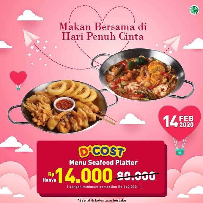 Diskon D'Cost Harga Spesial Menu Seafood Platter Cuma Rp. 14.000