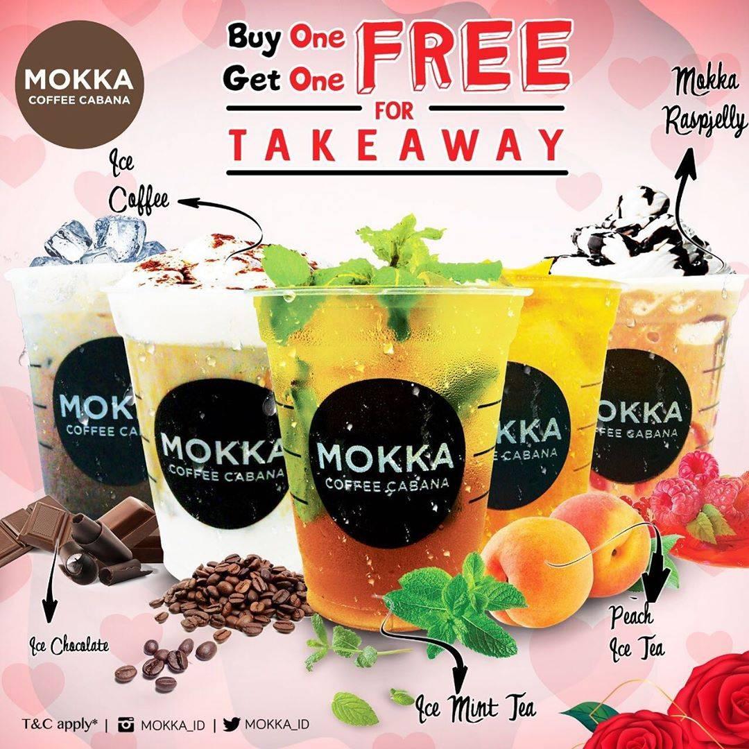 Mokka Coffe Cabana Promo Buy 1 Get 1 Khusus Takeaway