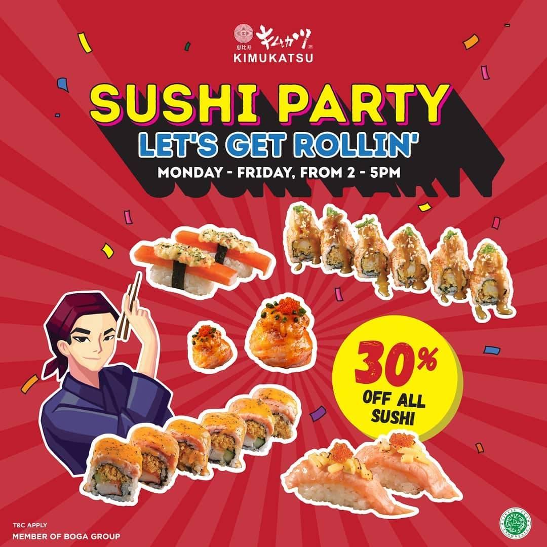 Kimukatsu Promo Discount 30% Off Only For Sushi Menu