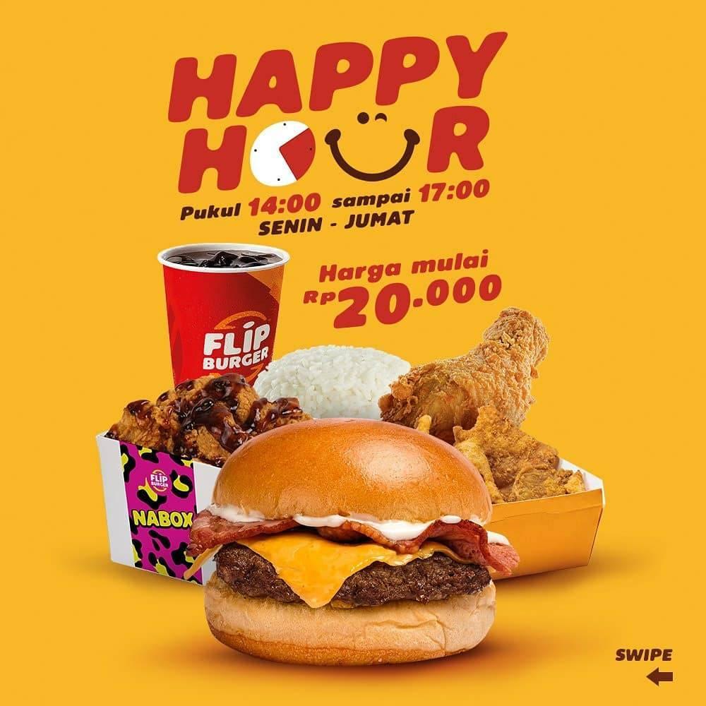Diskon Flip Burger Promo Happy Hour Menu Pilihan Dengan Harga Spesial Mulai Dari Rp. 20.000