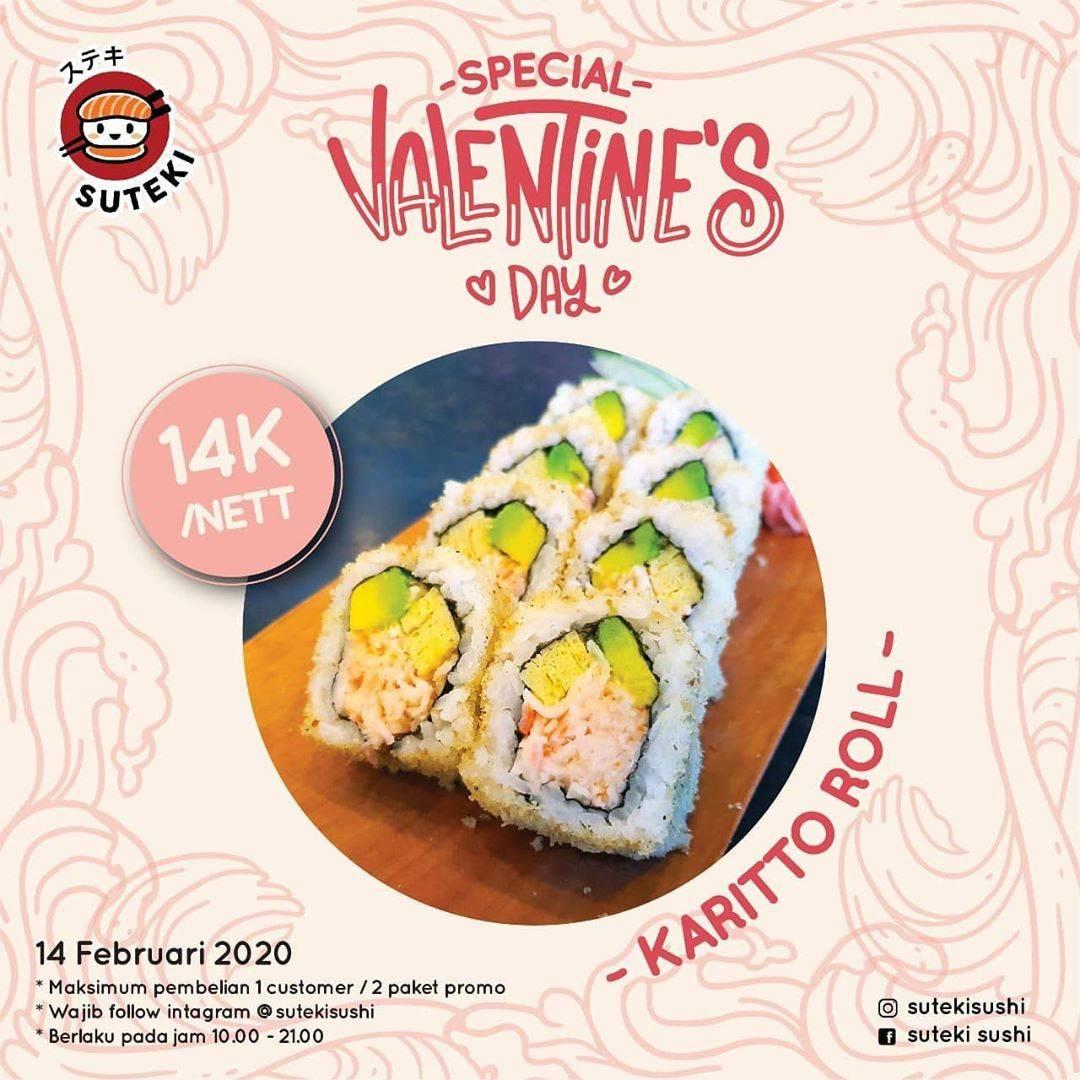 Suteki Sushi Promo Special Valentine's Day, Dapatkan Harga Spesial Untuk Menu Karitto Roll Cuma Rp.
