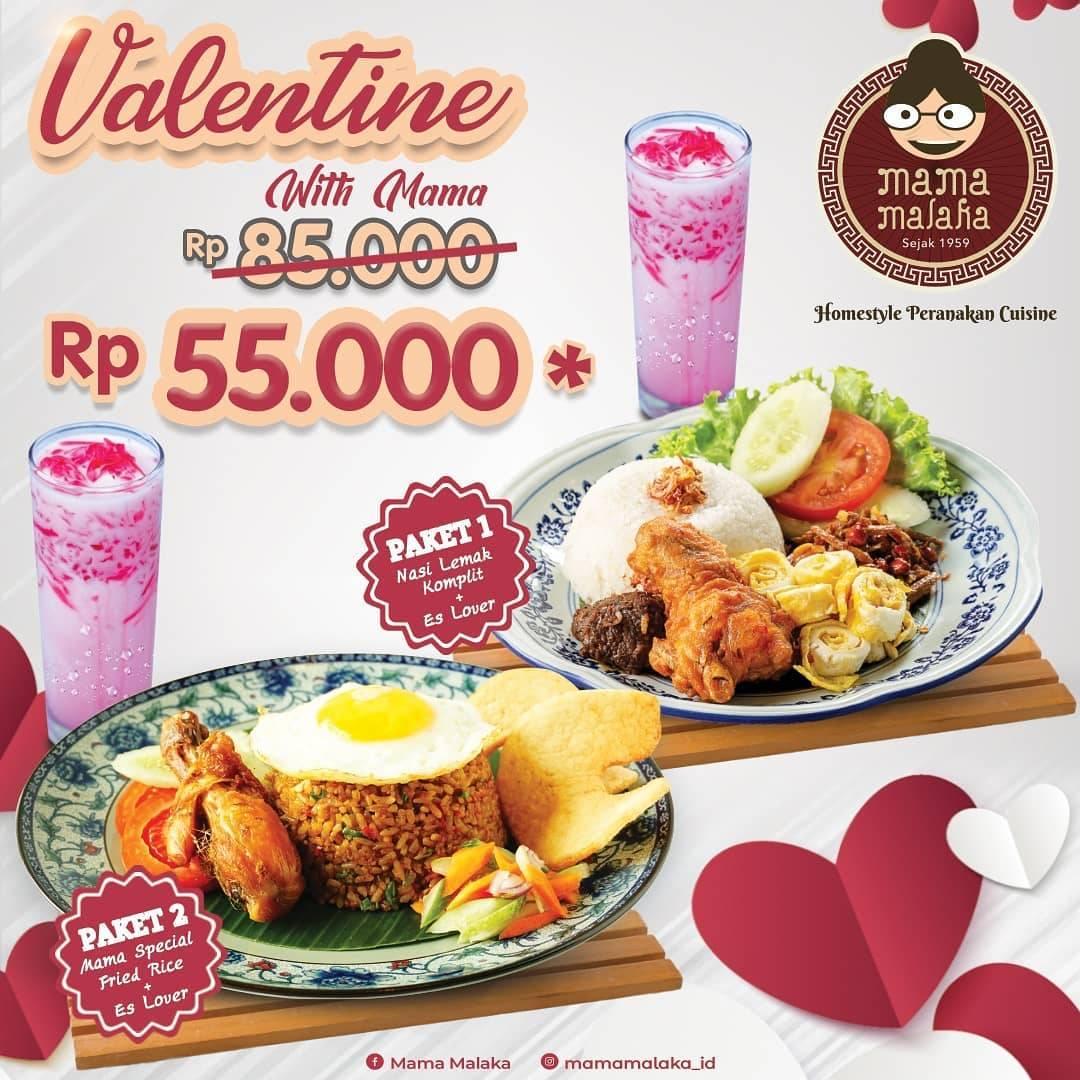 Mama Malaka Promo Valentine With Mama, Harga Spesial Untuk Menu Paket 1 & 2 Cuma Rp. 55.000
