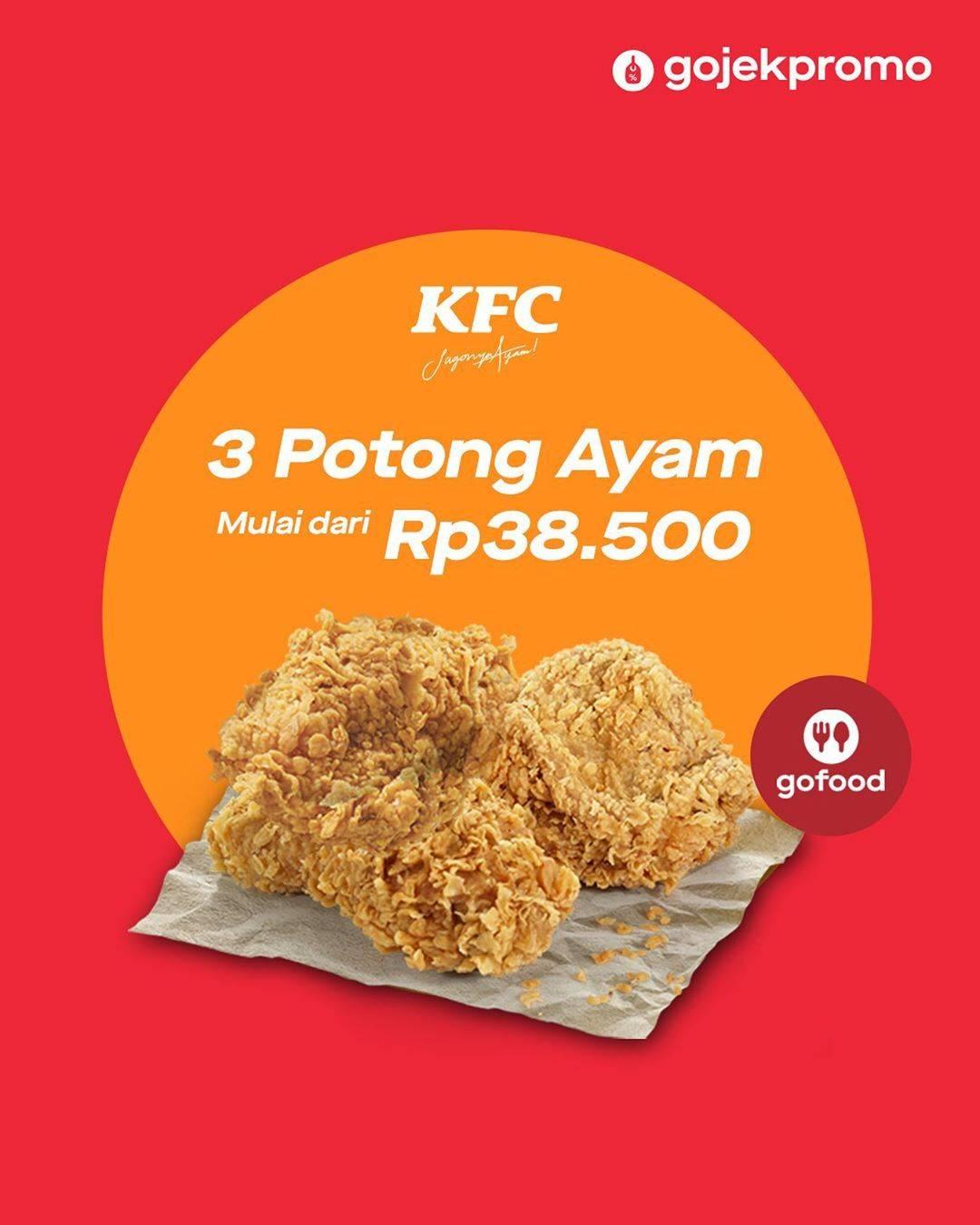 Diskon KFC Promo Beli 3 Ayam Dengan Harga Mulai Dari Rp. 38.500.