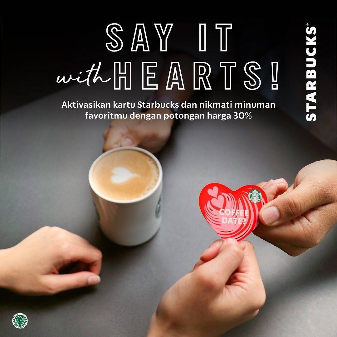 Starbucks Promo Starbucks Card Eksklusif Edisi Valentine Dapatkan Diskon 30% Untuk Minuman