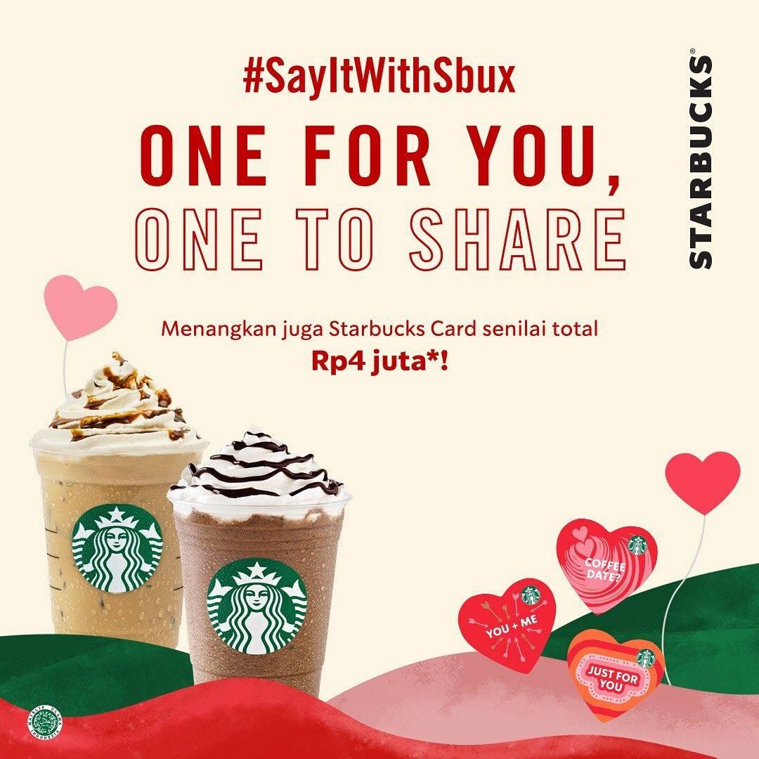 Starbucks Promo Spesial Valentine's Day, Beli 1 Gratis 1 Untuk Minuman Menggunakan Kupon Line