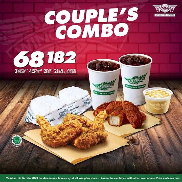 Wingstop Promo Special Offer Couple's Combo Only IDR 68.182
