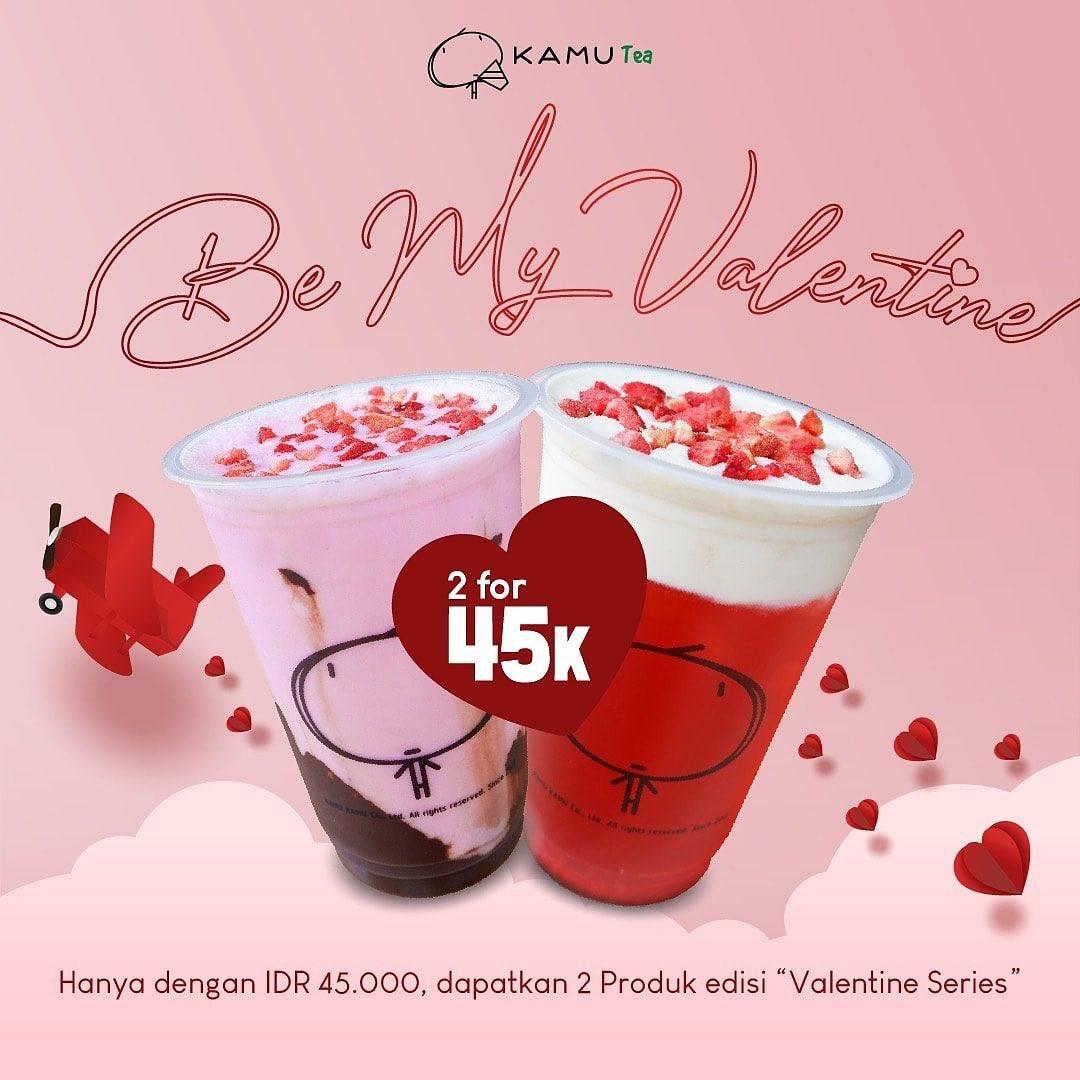 Diskon Kamu Tea Promo Variant Terbaru, Harga Spesial 2 Minuman Valentine Series Cuma Rp. 45.000